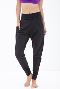 Forever 21 Foldover Woven Trackpants